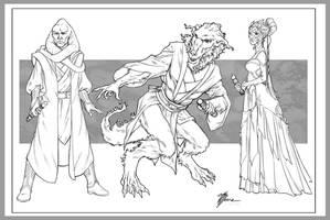 Jedi Sketches by artbytravis
