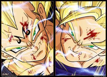 Majin Vegeta VS Goku SJJ2 by goku003