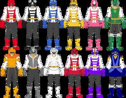Celestial Beast Squadron Eto Ranger (Rangers) by BLADEDGE