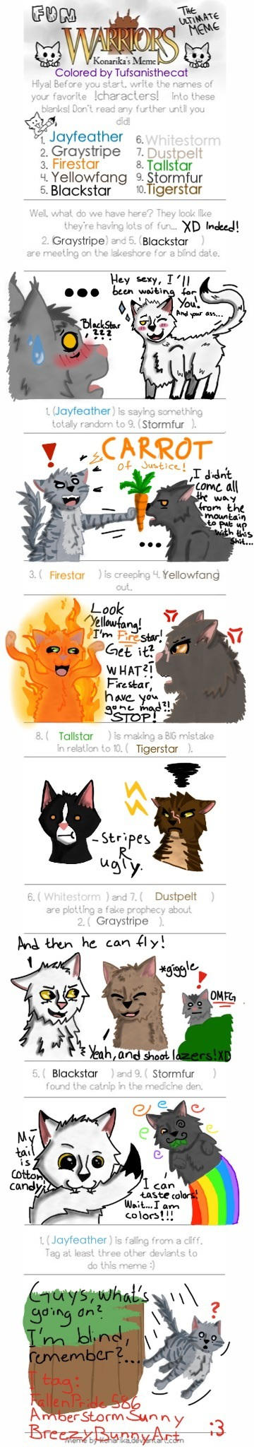 Warriors Cats The Ultimate Meme By Tufsanisthecat On Deviantart