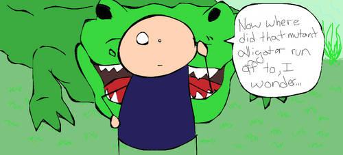 Alligator Surprise by martypunker