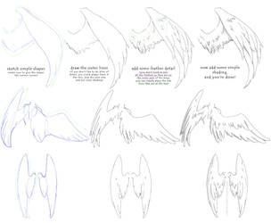 manga angel wings tutorial #1 by Vitamin-Emo