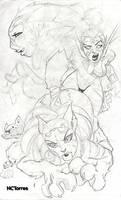 The Warrior Feline Sketch by nctorres