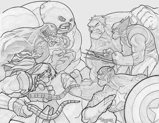 MARVEL FIGHT by nctorres