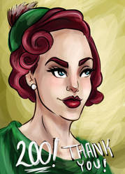Portrait -Thank You by InkBurstStudios