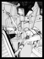 Cyberpunk fight by murrayisgod