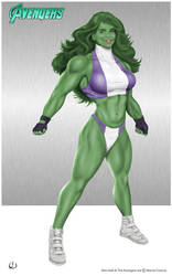 She-Hulk - here to kick ass by yatz