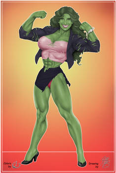 A Growing Girl - Robb Phipps She-Hulk Colored by yatz