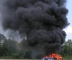 car fire by ItsAllStock