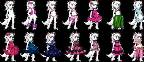 Krystal's Outfits by Lyra-Elante