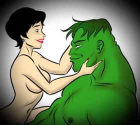 Betty Ross and The Hulk by PookieArt