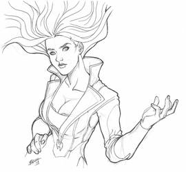 Scarlet Witch - Sketch by Magnafires