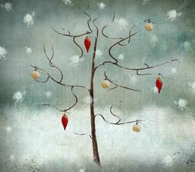 Le petit arbre sous la neige by missdine