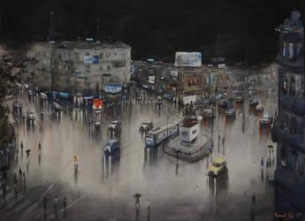 Rainynight Cityscape by ArnabNag
