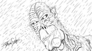 Beast Man In The Rain by djneckspasm