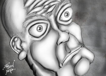 Grey Scaled and bug eyed by djneckspasm