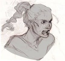 Angry girl by Porokelle