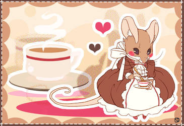 Mrs mouse's tea time by Mi-eau