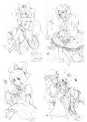 CJE commissions - Touhou by Mi-eau