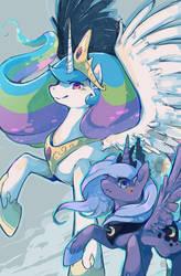 Commission - Pony Princesses by Mi-eau