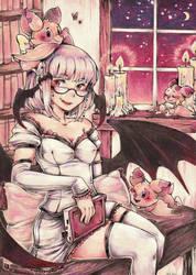 Bat librarian by Mi-eau