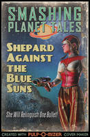 Shepard Against the Blue Suns by TheWonderingSword