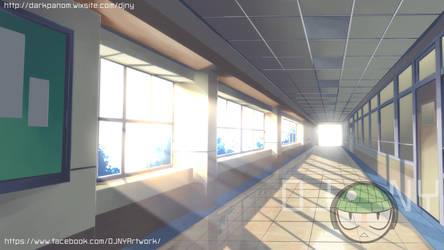 BG work school hallway by panom
