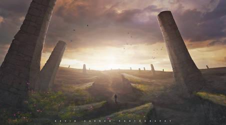 Ancient graveyard by kevron2001