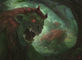 Demons of the Woods by MichaelLoos