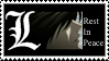 Death Note: L RIP Stamp by xRadioSilence