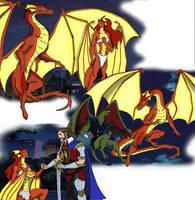 Isolde, the dragon of Albion ~Gargoyles Contest~ by ADONOVAN94