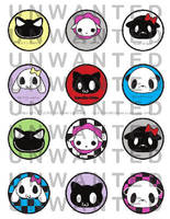 Unwanted animals stickers by funkyfunnybone