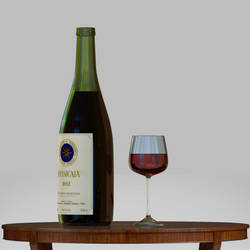 Wine Bottle by VirusRedsox
