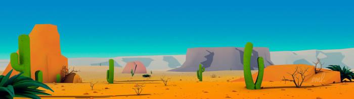 Lowpoly desert background by VirusRedsox