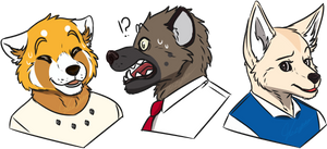 Trio || AggRetsuko by MisterMismatched