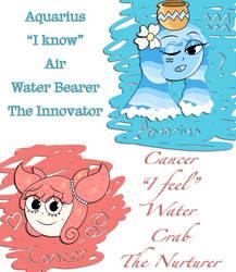 CH Zodiac: CancerVanille and AquariusGelatine by XxKawaiiCupcakezxX