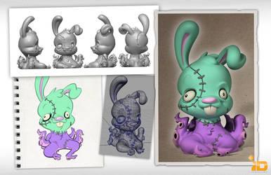 3D Bunnypuss Board by Baron-Von-Jello
