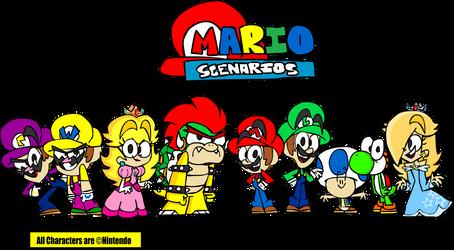 Mario Scenarios - The Main Cast by RylanLego