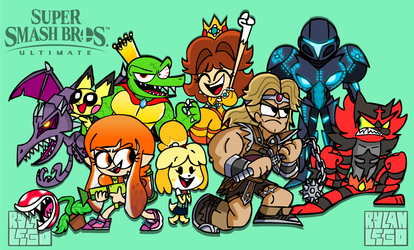 Super Smash Brothers Ultimate Newcomers by RylanLego