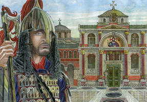 Guarding The Bronze gate of the Great Palace by AMELIANVS