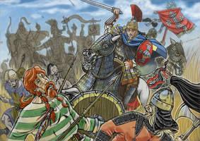 Battle of Ariminum AD 553 sketch by AMELIANVS