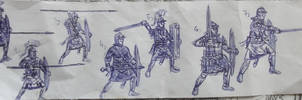 Simple sketches of 3rd century legionaries by AMELIANVS
