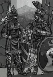Guarding the Caspian gates by AMELIANVS
