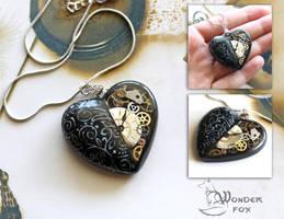 Black Mechanical Heart by Wonder-fox