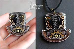 Steampunk Hat Pendant by Wonder-fox