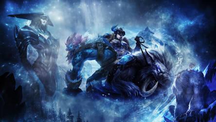 League Of Legends : Winter Wallpaper by iamsointense