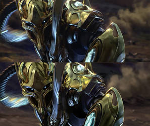 Protoss Zealot by Chris-Lawgan