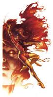 Phoenix commission color by simonebianchi