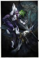 Batman vs Joker 2012 commission by simonebianchi