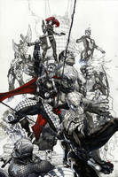 Avengers #24 variant cover by simonebianchi